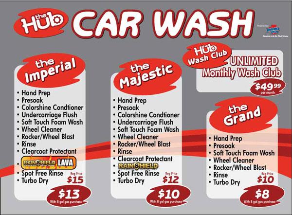 Hub Car Wash Coupons
